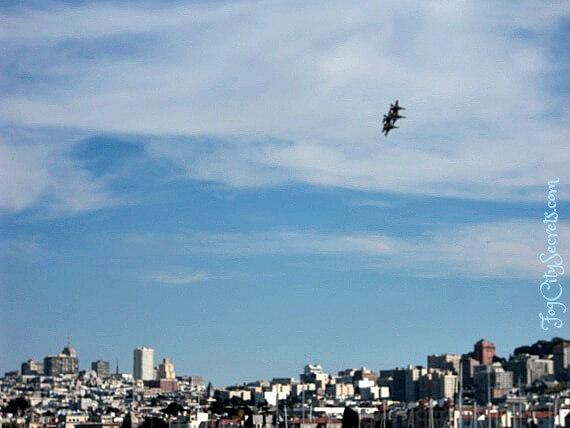 Blue Angels and San Francisco skyline