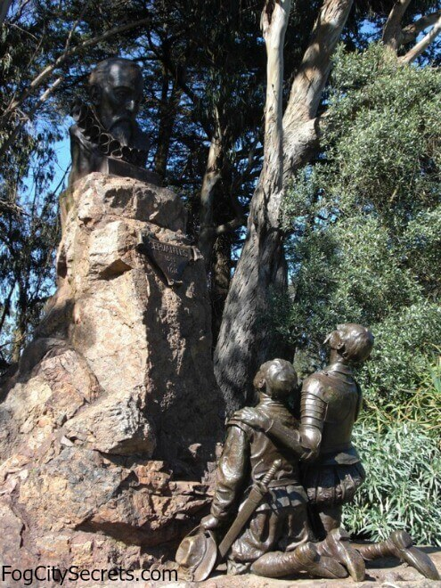 Statue of Cervantes, Don Quixote, and Sancho Panza in Golden Gate Park.