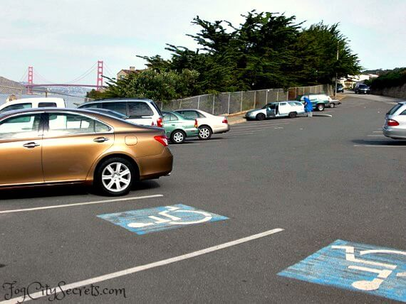 Parking lot, China Beach, San Francisco