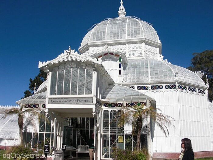 Entrance to Conservatory of Flowers, San Francisco
