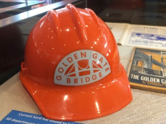 Current hardhat used on Golden Gate Bridge
