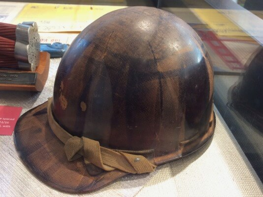 Original hardhat used on construction of Golden Gate Bridge