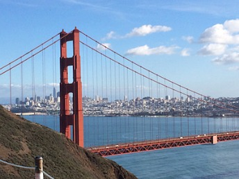 View of Golden Gate Bridge from the Marin Headlands