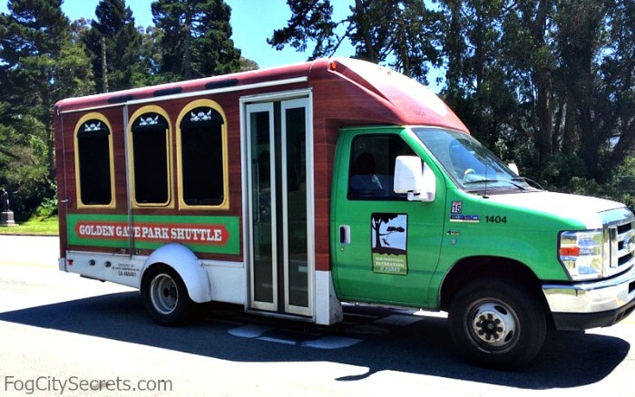 Free shuttle in Golden Gate Park