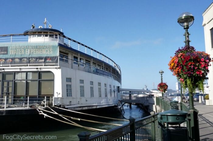 Hornblower Landing, Pier 3 San Francisco, San Francisco Belle at dock.