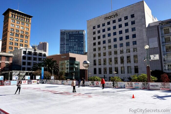 Ice skating rink, Union Square, San Francisco