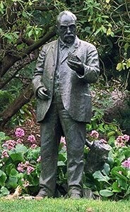 John McLaren statue in the Rhododendron Dell, Golden Gate Park