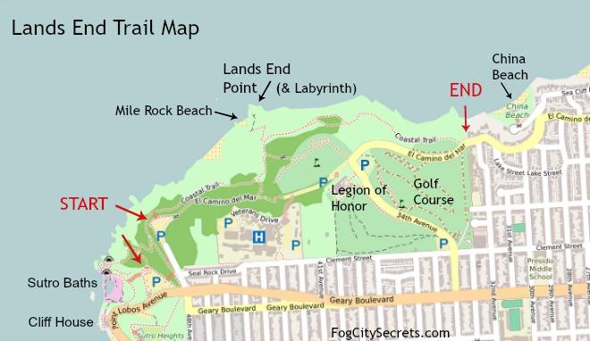 Lands End Coastal Trail Map
