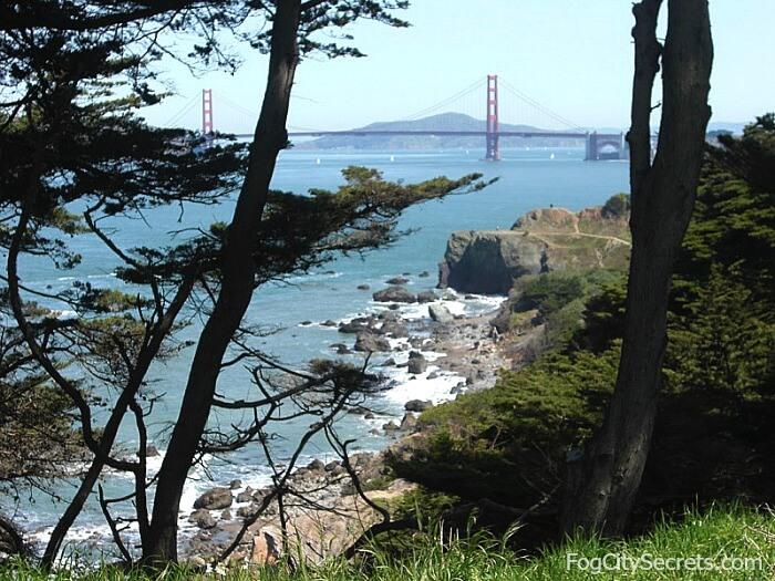 Lands End San Francisco, view of Golden Gate Bridge
