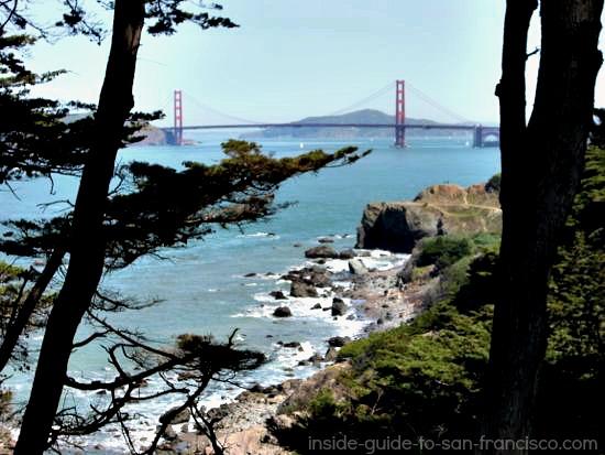 Lands End San Francisco, Golden Gate Bridge view