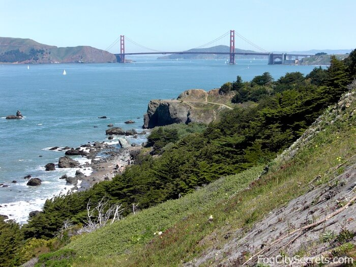 View of Golden Gate Bridge from Lands End Trail
