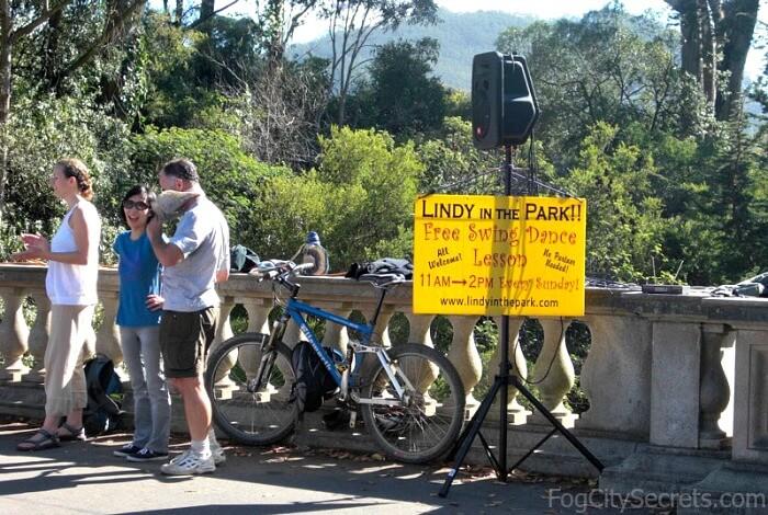Lindy in the Park sign, Golden Gate Park