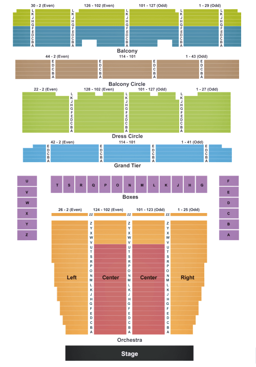 Seating map for the SF Opera.