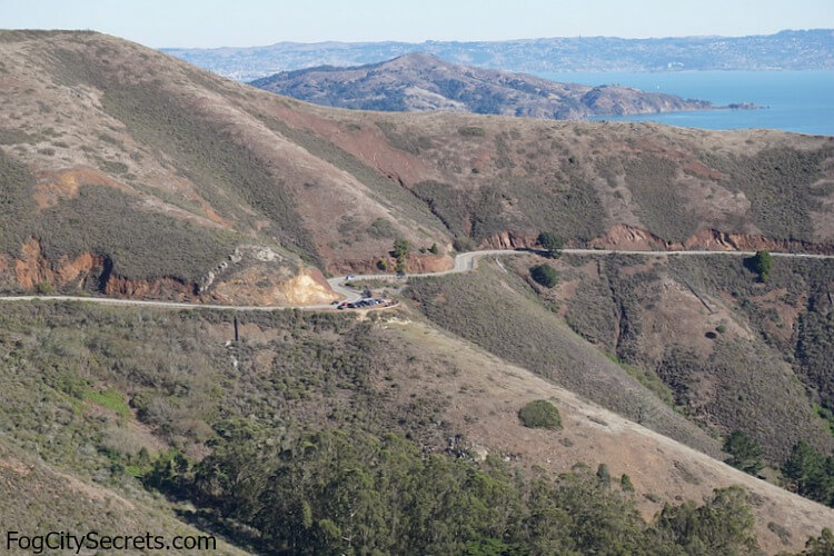 Marin Headlands, third turnout for parking on Conzelman Road