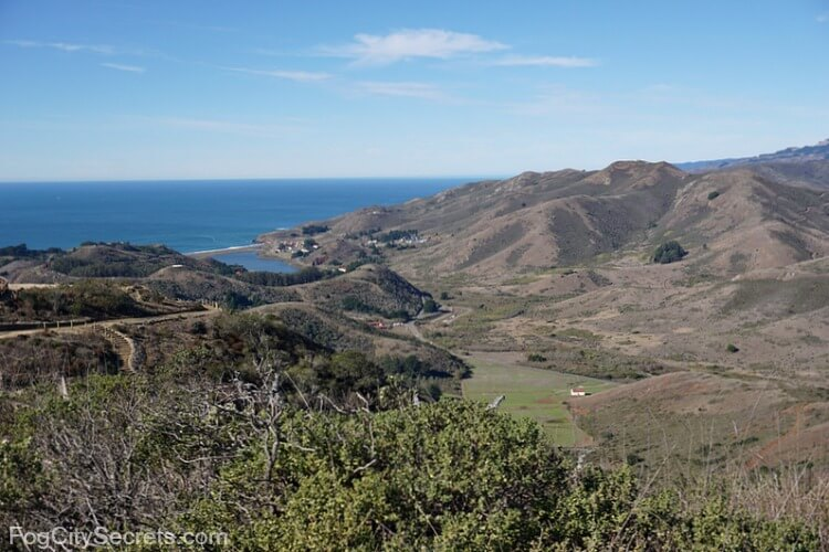 View of Rodeo Beach from Hawk Hill, Marin Headlands