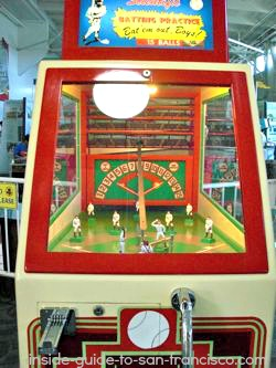 Baseball game at Musee Mecanique