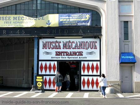 Entrance to Musee Mecanique at Pier 45, Fisherman's Wharf