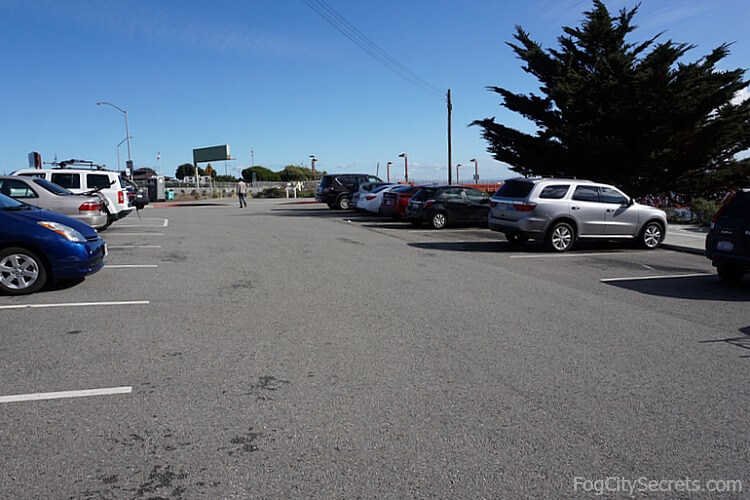 Golden Gate Bridge parking, North Tower Lot