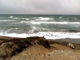 Ocean Beach San Francisco, view of stormy ocean