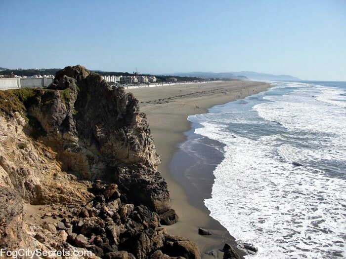 Ocean Beach San Francisco, view from Cliff House