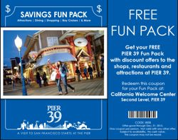 Fun Pack booklet for discounts and coupons for Pier 39