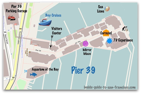 Map of Pier 39 San Francisco