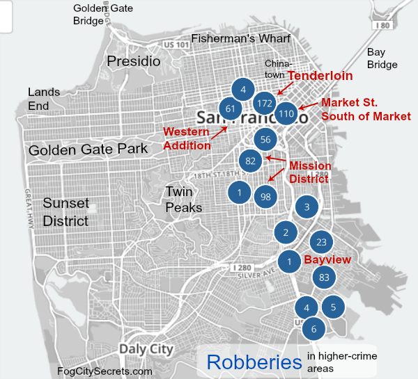 Areas To Avoid In San Francisco Map San Francisco Crime: is SF safe for tourists? Tips from a local.