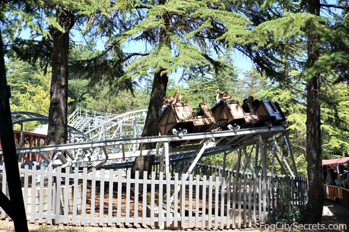 Roller coaster at Train Town in Sonoma
