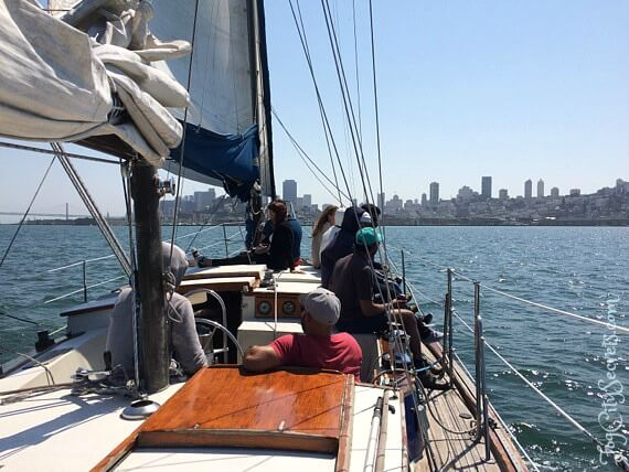 San Francisco Bay Sailboat Cruise, city view