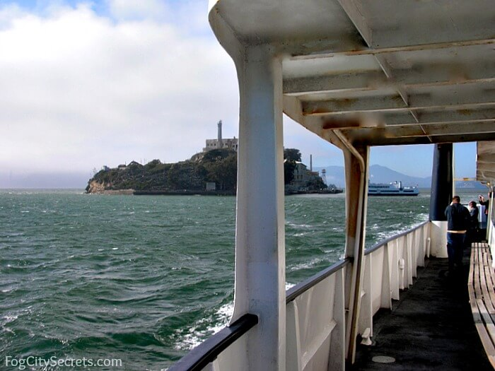 View of Alcatraz on Blue and God Ferry