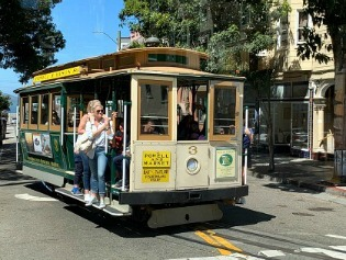 SF cable car turning