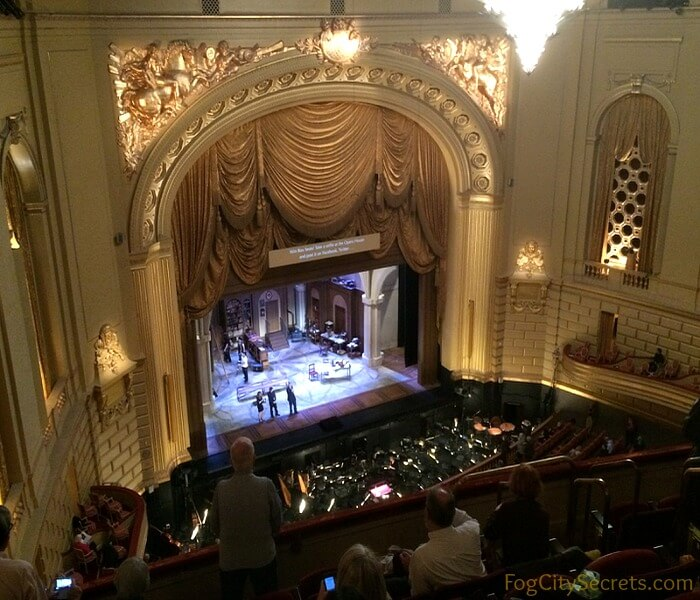 View from the Balcony Section of the San Francisco Opera House.