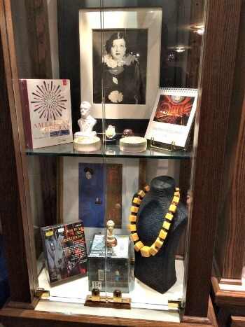Display case in the SF Opera Gift Shop