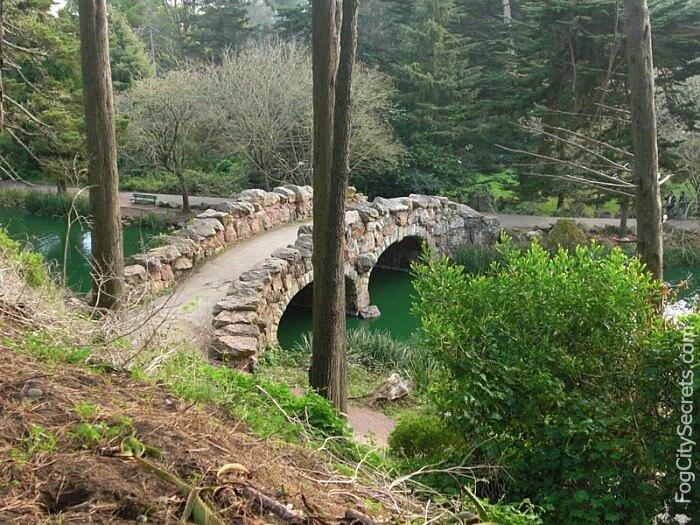 Stone bridge at Stow Lake, Golden Gate Park