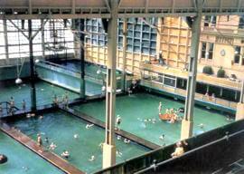 Vintage photo of Sutro Baths swimming pool
