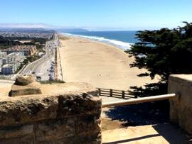 View of Ocean Beach from Sutro Heights Park, San Francisco