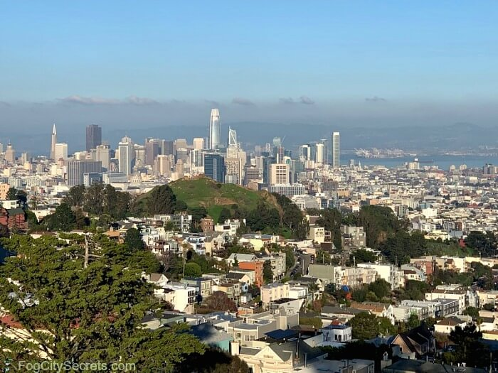 View of downtown SF from Tank Hill