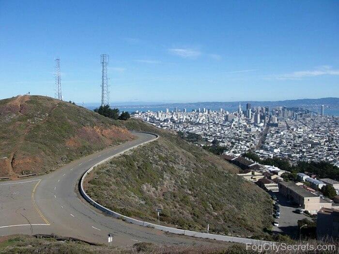 Twin Peaks San Francisco downtown view