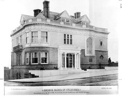 Alban Towne mansion, San Francisco, before destruction in 1906 earthquake