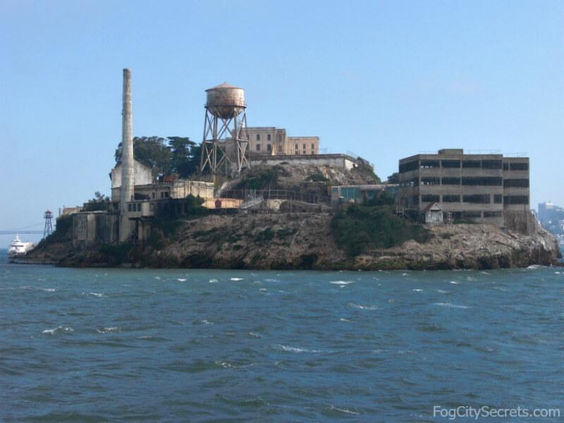 Rear view of Alcatraz from boat