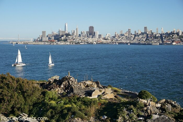 View of San Francisco skyline from Alcatraz