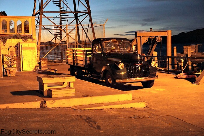 Old truck on the dock, Alcatraz night tour
