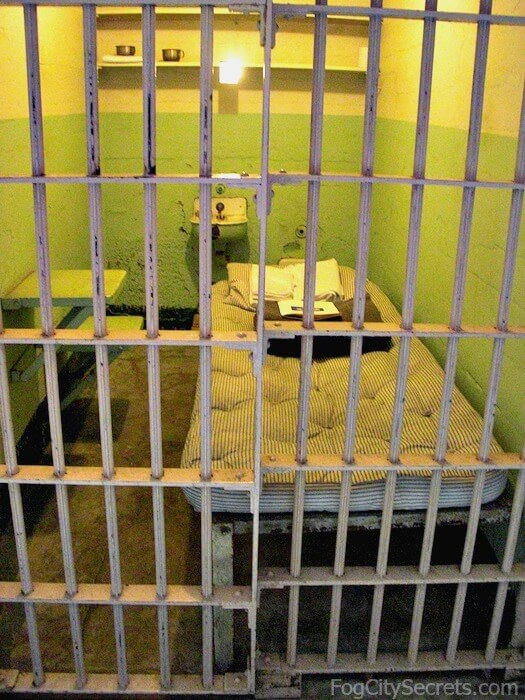 Typical cell at Alcatraz prison