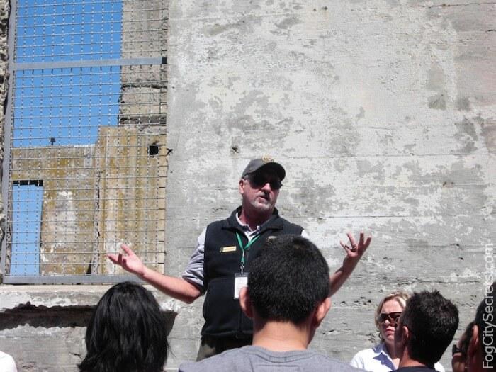 Alcatraz prison tour guide