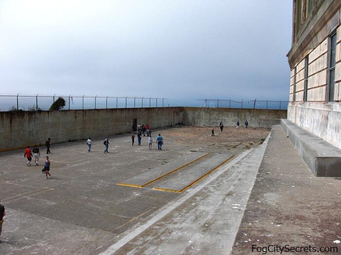 Exercise yard, Alcatraz prison tours