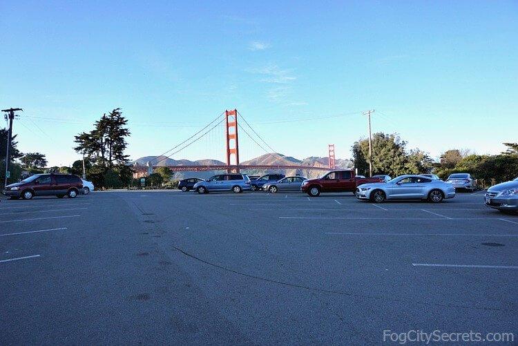 Battery East parking lot, Golden Gate Bridge