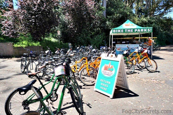 Bike rental kiosk, Golden Gate Park