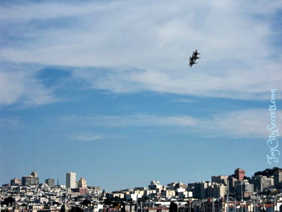 Blue Angels and San Francisco skyline