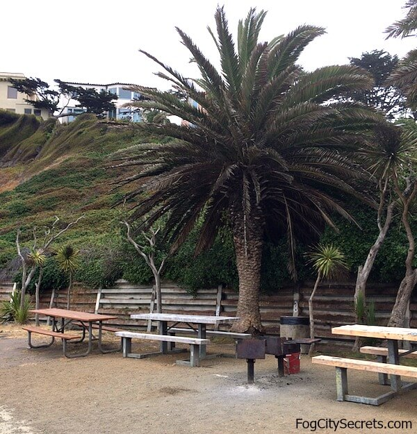 Picnic area at China Beach
