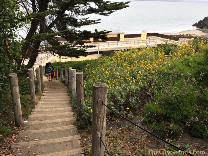 Stairs down to China Beach, San Francisco